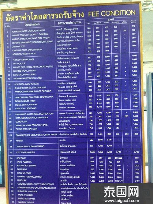 【普吉】普吉机场到KARON海滩的交通工具、费用,省钱细节